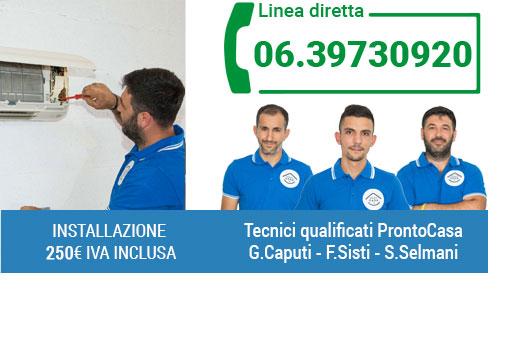 Installazione certificata condizionatori a Roma