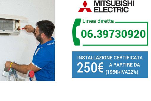 installazione climatizzatori Mitsubishi Roma
