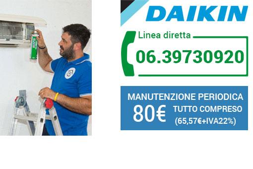 manutenzione climatizzatori Daikin Roma