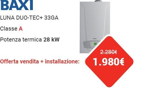 Offerta BAXI LUNA DUO-TEC+ 33GA