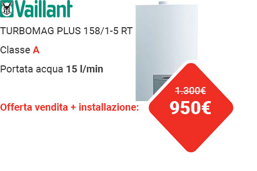 Offerta VAILLANT TURBOMAG PLUS 158/1-5 RT